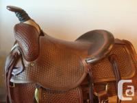 Custom made western saddle. Made for a real cowboy.