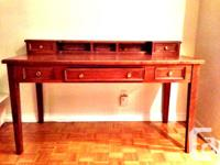 Beautiful hand crafted, custom made wood desk. Both