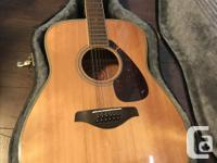 I have a Yamaha FG-720s-12 guitar and hard case in