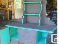 "Sideboard has been refinished and painted in ""Cast"