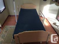 This medical facility bed as well as flexible SAS post