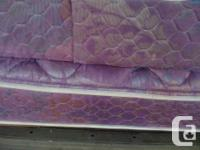 COMFORTABLE & CLEAN DOUBLE BED MATTRESS AND MATCHING