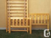 Solid Pine single bed $100 with trundle bed and two