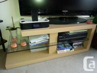Malm bed side tables (2) $40 for both Vase $5 TV stand/