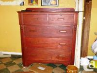 - Maple dresser 26 by 16 by 39 - $60 - Large wood
