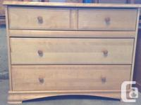 Two Dressers, 1-night table, and 1 bookcase Solid Wood