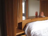 Beautiful bedroom furniture, solid wood, inbuilt