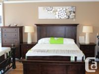 Solid Alder Bedroom pieces, made in Vancouver Excellent