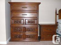 MADE IN CANADA   Solid wood bedroom suite, over 40