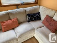 Beautiful beige sectional -bought 12 years ago - little