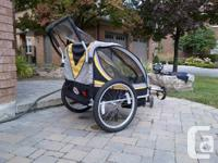Bell bike and running stroller. Fits 2 children, in