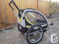 Bell Fast Glide Bike trailer with Easy Conversion Kit.