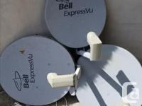 A full array of Bell Satellite equipment - Dishes with