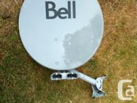 Bell Express Vu satellite with 2 LNB's; one single and