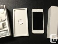 I HAVE A MINT 8.5/10 CONDITION IPHONE 5 16G IN WHITE