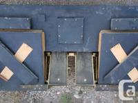 Set of bellows with foot pedals for player piano.