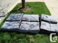 Steel Grey Patio Bench Cushions - Set of 6 upper and 6