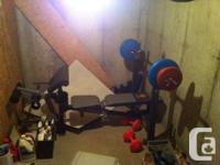I have a bench press as well as weights I have to