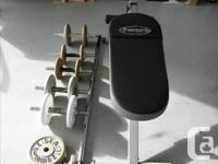 Free Spirit Bench & Weights.... 6 Dumbells and 1