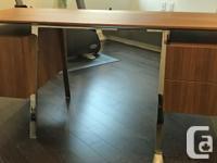 High end desk made by Bensen (bensen.ca). The desk