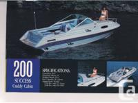 White 1989 OMC Cobra Inboard/Outboard V6 Engine 20ft