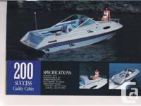 White 1989 OMC Cobra Inboard/Outboard V6 Engine 20ft