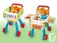 he 2-in-1 Shop & Cook Playset� by VTech® turns your