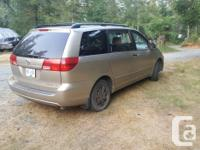 Make Toyota Model Sienna Year 2004 Colour Silver kms