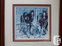 Bev Doolittle print titled - Two Indian Horses.