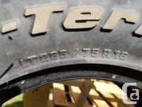Set of 4 , BF Goodrich All Terrain T/A truck tires.