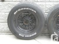 4 BF Goodrich Radial T/A's, 245/60/15. Will fit most