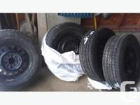 For sale is a set of BF Goodrich Winter Slalom tires on