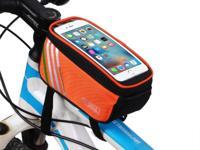 "Bicycle Bike Frame Phone Bag - 1.4L 4.8"" - Orange -"