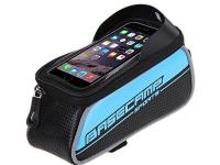 "Bicycle Bike Frame Phone Bag - 1.5L 4.7"" - Blue - L19 x"