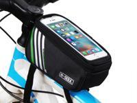 "Bicycle Bike Frame Phone Bag - 1.8L 5.7"" - Black -"