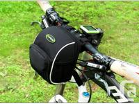 Bicycle Bike Front Handlebar Pouch Bag with Rain Cover