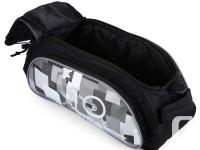 Bicycle Bike Rear Rack Top Bag with Shoulder Strap &