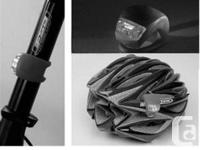 Bicycle Bike Safety LED Light - Black - powered by 2 x