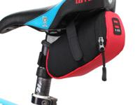 Bicycle Bike Seat Saddle Tail Pouch Bag - Black Red -