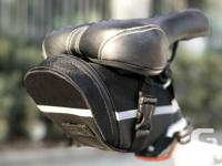 Bicycle Bike Seat Saddle Tail Pouch Bag - Black -