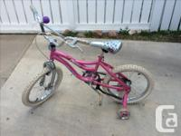 Bicycle for a girl, 4 wheels. 21 inches. Come with a