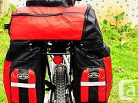 Bicycle Bike Rear Rack Waterproof Double Pannier Bag