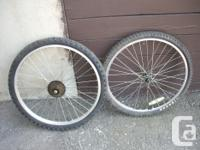 """Available: 20"""" and also 24"""" bike wheels: Alloy rim with"""