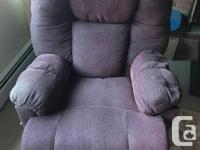 Very comfortable recliner chair. Works great. Well sat