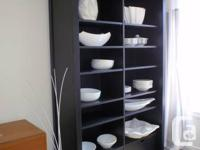 Nice contemporary black cabinet with 4 fixed, 4