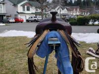 "Big Horn flex tree trail saddle for sale. 17"" seat 7"""