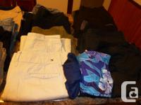 Huge lot of females pants, capris and shorts for sale.