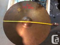 "Big old 22"" Pearl cymbal  View this weekend 9:00 - 4:30"