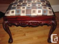 For Sale: Huge footstool/ottoman. Strong timber,