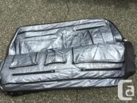 Large capacity, heavy duty zipper, ripstop exterior,